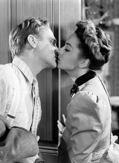 James Cagney and Olivia De Havilland in The Strawberry Blonde (1941). A fun film that also stars Rita Hayworth and Alan Hale