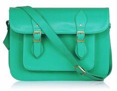Femme Vintage Messenger Bag Cartable, sac à bandoulière, Emerald  Amazon.fr  7661fae3b72