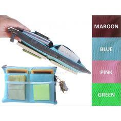 PEGlala: Slim Multi-Purpose Organizer with 13 Pockets (Blue) - Service Bags & Organizers - Ministry