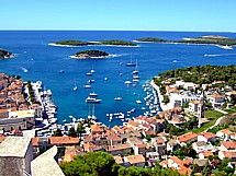 Hvar, Croatia. Hands-down, the best stop on our Croatia road-trip 2011. It's beautiful here! Rent a little boat for cheap, and cruise out to the smaller islands. Anchor down in a cove and jump into the clear blue water, or pull in and explore the shores.