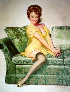 Donald Rust Vintage Pin Up Girl Illustration | Pin-Up Girls | Sugary.Sweet | #PinUp #Art #Vintage #Pulp