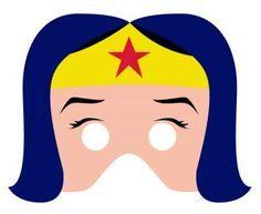 máscara de wonder woman o la mujer maravilla para niños