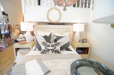 Priscilla and Parker pillows featured on bedding by Peacock Alley- faux fur blanket by Fabulous Furs #fauxfur #bedding #pillows #insideisabella #isabellastyle