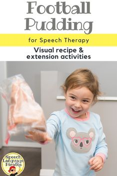 Football pudding fall speech therapy super bowl cooking in speech visual recipe