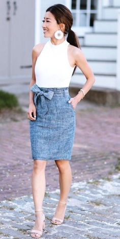Extra Petite - Fashion, style tips, and outfit ideas Summer Office Outfits, Stylish Summer Outfits, Classy Outfits, Work Outfits, Chic Outfits, Church Outfit Summer, Summer Office Looks, Summer Work, Preppy Outfits