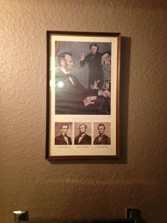 More Ab Lincoln decor for the guest bathroom