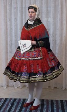 Europe | Portrait of a woman wearing a Sarkozi traditional costume (Ujvári S), Hungary