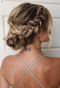 fishtail braided upfo