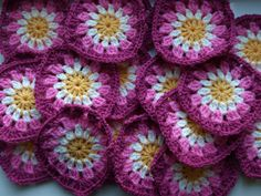"""PINK crochet granny squares    This one is going into my """"Inspiration for Future Projects"""" folder :)"""