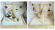 See OVER 100 different tabletop wood bird stands, wood parrot perches and other wooden bird perches made from wood dowels to manzanita at the Perch Factory. Parrot Perch, Bird Perch, Bird Stand, Play Gym, Wood Bird, Wood Table, Top, Timber Table, Crop Shirt