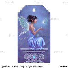 Opalite Blue & Purple Fairy with Butterfly Pack Of Gift Tags