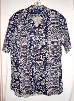 POLO-by-RALPH-LAUREN-Hawaiian-Linen-Cotton-Bonnard-Aloha-Mens-Shirt-Size-Lg