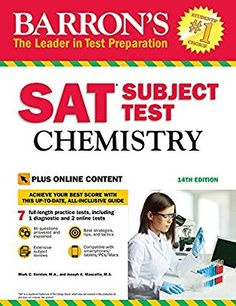 Free eBook Barron's SAT Subject Test: Chemistry with Online Tests Author Mascetta M., Joseph A. and Kernion M. New Books, Good Books, Books To Read, Reading Online, Books Online, Test Guide, Online Tests, Free Pdf Books, Test Preparation