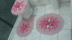 Conjunto Em Crochê Para Banheiro | Suprema Artesanatos | Elo7