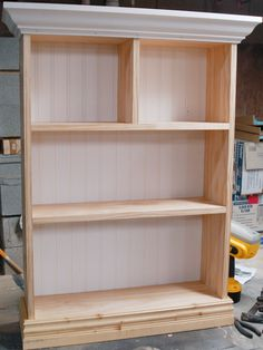 How To Construct Bathroom Shelving.  Want to make this for between the sinks in the Master Bath.