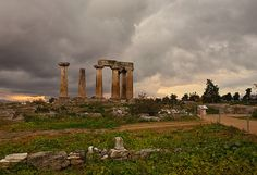 #Apollo temple at Ancient #Korinth #Greece