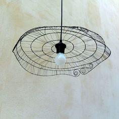 by kateblues Lamp Shades, Light Shades, Suspension Diy Luminaire, Boli 3d, Art Fil, Vintage Wire Baskets, Wire Flowers, Light Crafts, Weaving Art