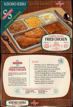 Swanson 3 Course Dinner - Fried Chicken - tv dinner box - 1960's by JasonLiebig, via Flickr