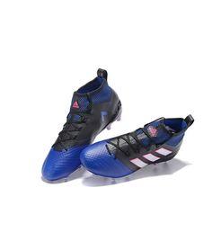 competitive price 8068e 55a0e Adidas ACE 17.1 FG Tacchetti per terreni duriUomo scarpe da calcio blu nero  bianco porpora