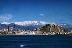 Esto es lo que ves cuando en invierno nieva cerca de Alicante!!