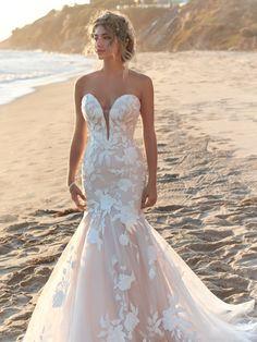 Fit And Flare Wedding Dress, Wedding Dress Sizes, Bridal Dresses, Blush Lace Dresses, Gown Wedding, Summer Wedding Dresses, Skinny Wedding Dress, Country Wedding Gowns, Backless Wedding Dresses