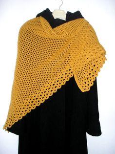 PATTERN PDF for crochet wrap  lacy shawl  scarf by popelkaLida, $4.00