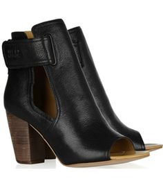 Cutout Leather Ankle Boots by See By Chloe