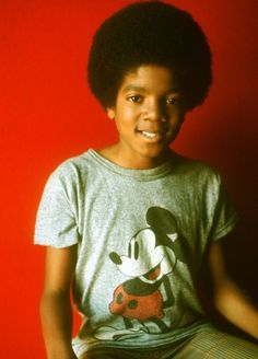 Young boy MJ rocking his fro