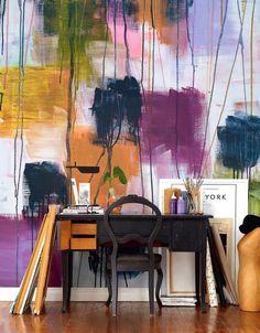INSPIRÁCIÓK.HU Kreatív lakberendezési blog, dekoráció ötletek, lakberendező tanácsok: FALMATRICA VAGY FALFESTÉS - AQUARELL HATÁSSAL