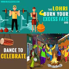 #MuscleDose wishes all a #HappyLohri #BurnFat #LookSlim