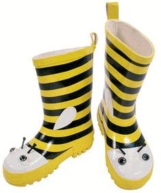 Bumble bee boots!