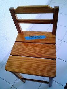 verniciare sedie in legno senza carteggiare Outdoor Chairs, Outdoor Furniture, Outdoor Decor, Interior Design, Handmade, Painting, Home Decor, Woodwind Instrument, Letter Case