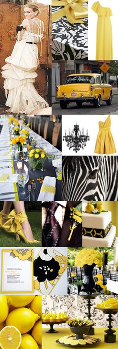 Black and Yellow, Black and Yellow Wedding!