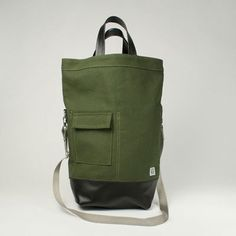 If this had a red strap, it'd be perfect for me. Chester Wallace canvas bag
