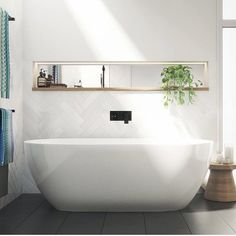 Tired of your small, dark and uninspiring bathroom? Well, there's no better time to give your small bathroom a fresh look. Small bathroom design is finally stepping out of the cookie… Continue Reading → Small Bathroom Tiles, Bathroom Renos, Laundry In Bathroom, Bathroom Interior, Bathroom Ideas, Neutral Bathroom, Shower Bathroom, Bathroom Feature Wall Tile, The Block Bathroom