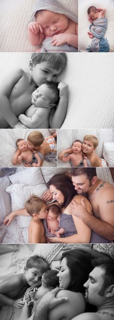 """""""Newborn/Family set ups"""" - So much better than the usual parents wearing black while holding the baby."""