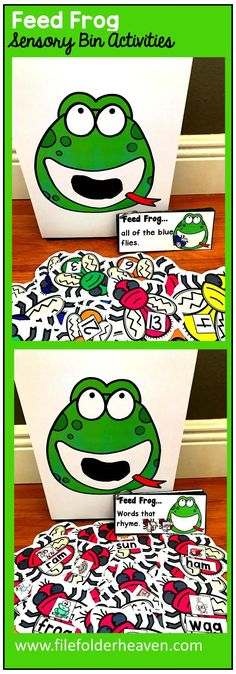 There are so many ways to use this Feed Frog Set.  I have left it very open ended so that you can target the skills you need to target in a small group setting. I have also included instruction cards for each set so that you can set the activity up as an independent center, and/or sensory bin activity. In the colors/sizes and numbers set, you can have students feed the frog flies by color, by size, or by number. You can also vary The level of difficulty according to your students needs.