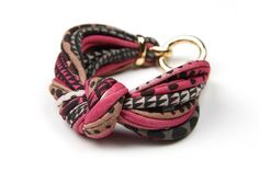 Burgundy, Light Brown, Black - Knotted Bracelet - Knot Fabric Bracelet Cuff - Chunky - Womens Accessories - Spring Fashion - Girls. $18.00, via Etsy.