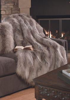 Silver Fox Limited Edition Faux Fur Throws