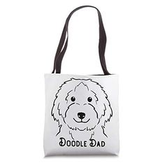 Doodle Dad Love cute puppy Design Tote Bag One in a Melon Dog Lover Gifts, Dog Lovers, Personalised Christmas Presents, One In A Melon, Presents For Men, Goldendoodle, Happy Dogs, Cute Puppies, Great Gifts