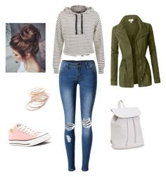 """""""Untitled #8"""" by agnes-18 on Polyvore featuring WithChic, Converse, Aéropostale, LE3NO and Red Camel"""