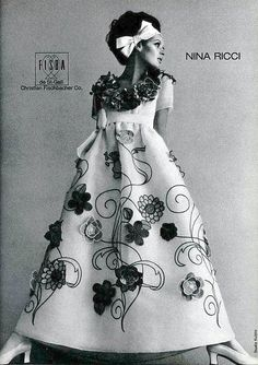 Nina Ricci, photo by Tom Kublin, L'Officiel, March 1968