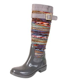 Another great find on #zulily! Gray Chopper Rain Boot by Nomad Footwear #zulilyfinds