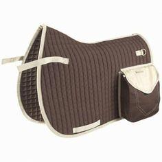 Bags for the saddle Horse Riding - Trail saddle cloth brown FOUGANZA -  Saddles and Tack 3b1b335c81afa