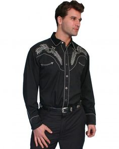 Scully Boot Stitch Embroidered Shirt - Sheplers