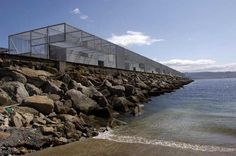 Irisarri + Piñera arquitectos, Manuel González Vicente · Fishermen Warehouses in the Port of Cangas Image C, Contemporary Architecture, Nautical, Spain, Building, Warehouses, Travel, Google Search, Architects