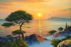 """Divagar entre PINTURAS e outras ARTES: O """"realismo romântico"""" do Pintor Sergei Stoev Good Day Images, Spring Break Destinations, Sunset Images, South Padre Island, 1 Gif, Recreational Activities, How To Buy Land, Animation, Summer Breeze"""