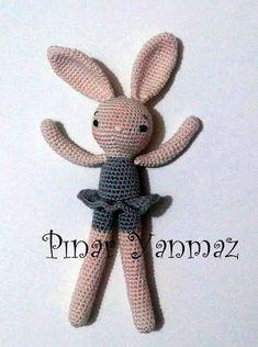 Leithygurumi: Amigurumi Çırpı Bacaklı Tavşan / Amigurumi Thin Legged Bunny