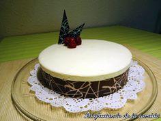 Tarta de Mousse de Chocolate Blanco con Cremoso de Frambuesa - Disfrutando de la comida
