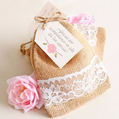 Lovely things by Pitusa Wedding Decorations On A Budget, Diy Wedding Favors, Wedding Cards, Wedding Gifts, Burlap Gift Bags, Baby Shower Souvenirs, Sewing Material, Floral Invitation, Goodie Bags
